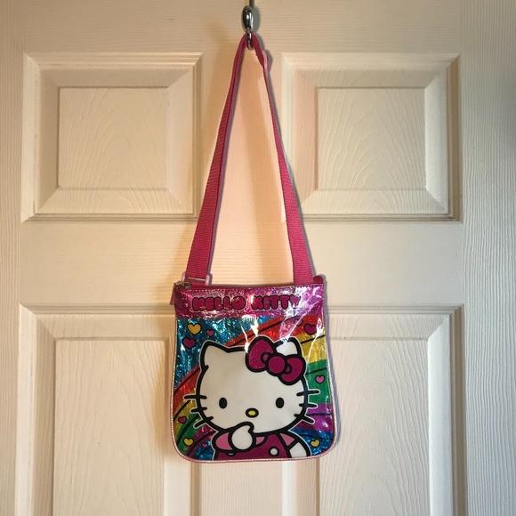 Hello Kitty Handbags - Adorable Hello Kitty Pink Crossbody Girls Bag